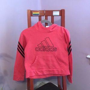 adidas bright pink hoodie